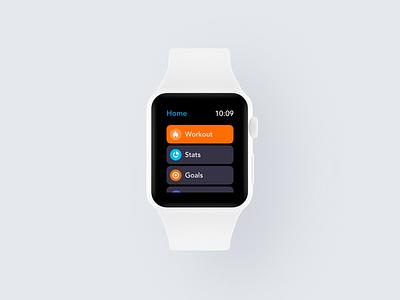 Workout App WatchOS fitness workout trainer gym health exercise running activity tracker smartwatch watchos watchface watch mobile clean minimal interface app ux ui