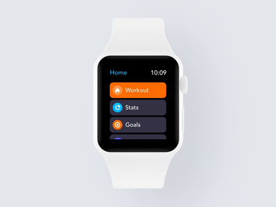 Workout App WatchOS fitness workout trainer gym health exercise running activity tracker smartwatch watchos watchface watch mobile clean minimal interface app ux ui