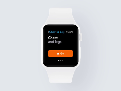 Training Experience WatchOS behance case study workout training gym activity tracker smartwatch watchos watch animation design ios mobile clean minimal interface app ux ui