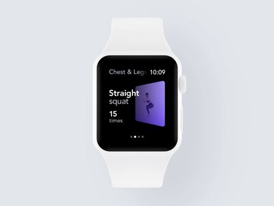 Apple Watch Workout Gestures wearables fitness trainings health gym training workout case study behance product design animation design mobile watch clean minimal interface app ux ui
