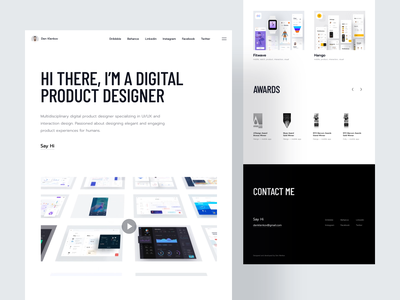 Personal Website modern webpage websitedesign showreel responsive homepage uiux landingpage webdesign business typography page landing portfolio design web website interface ux ui