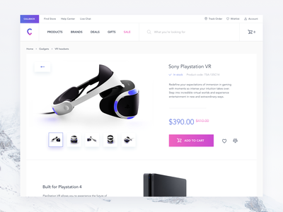 E-commerce - Transition to a product page animation interface interaction ui ux smooth prototype cart shop e-commerce