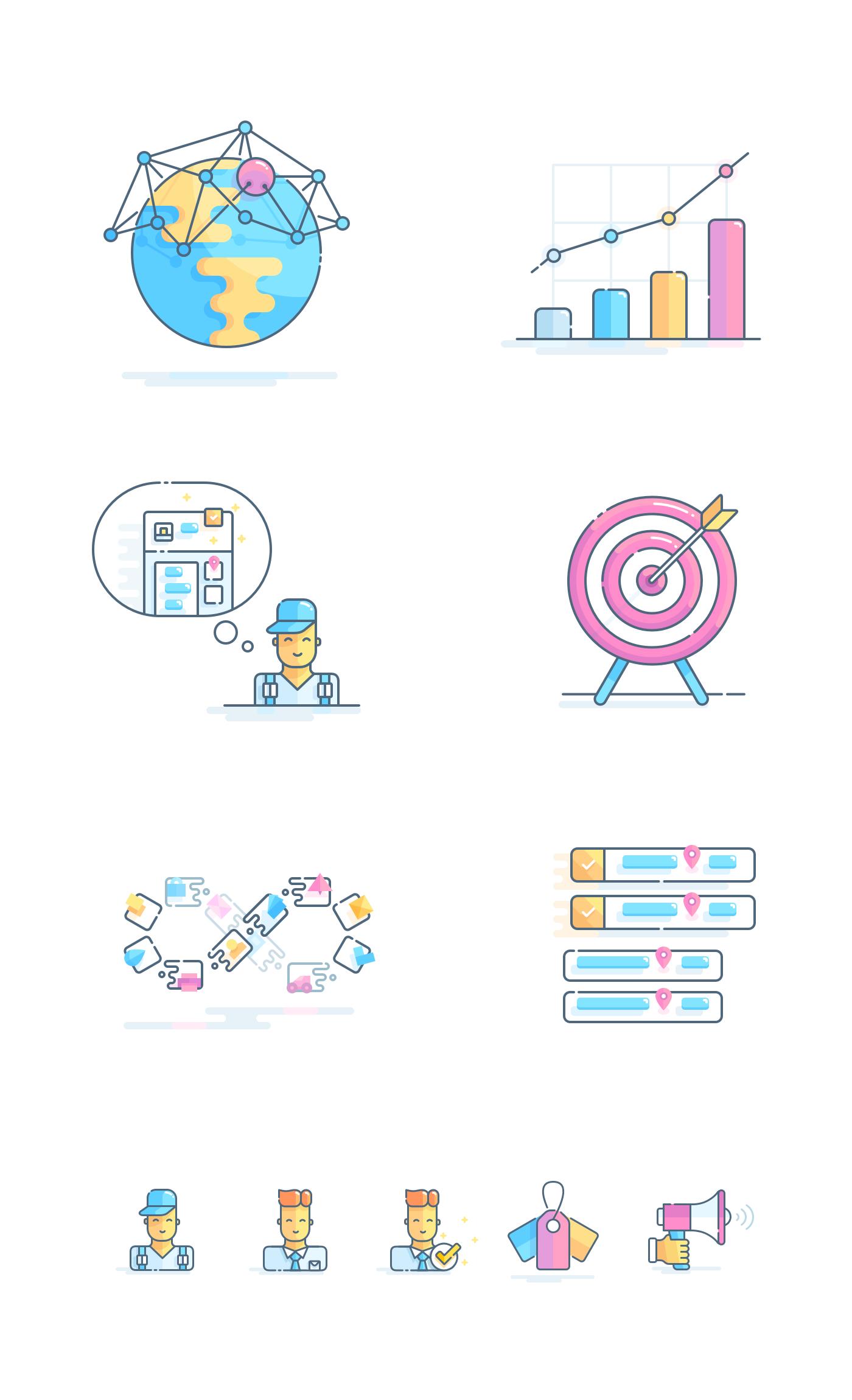 Outline illustrations