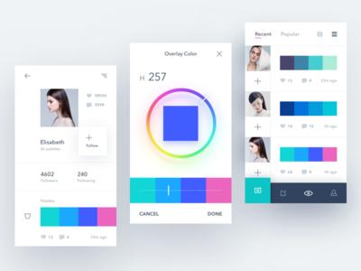 Color palettes app exploration