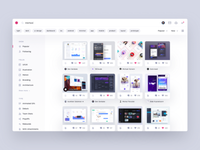 Dribbble - Redesign Concept