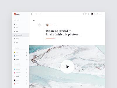 Reddit Interactions ux ui dashboard web concept transition animation redesign reddit