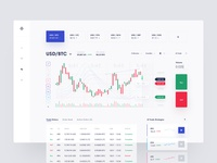 Cryptocurrency Trading Tool payment market transactions web app exchange currency ux cryptocurrency ui fintech btc bitcoin investment coin crypto finance clean business trading