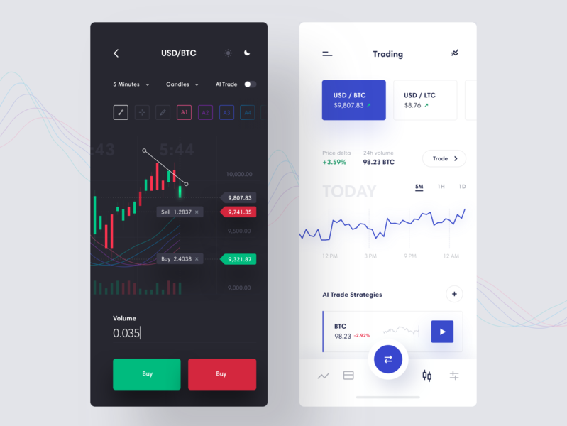 Cryptocurrency Trading App currency btc bitcoin dark ui chart analytics trading crypto wallet crypto cryptocurrency product design interface clean ios minimal mobile dashboard app ux ui