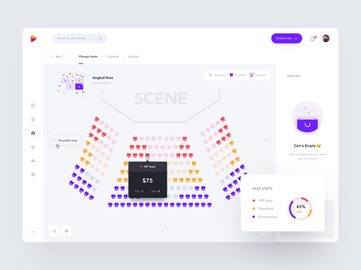 Booking Seat white product design dashboard chart reservation select ticket maps seating seats map seat booking web clean minimal interface app ux ui