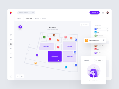 Venue Map realestate interior events room web design portal icons product design event building venue maps map web clean minimal interface app ux ui