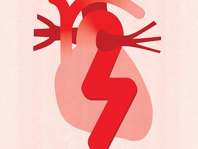 Premium Stock: Medical, Health medicine illustration textured healthcare editorial editorial illustration medical illustration conceptual illustration medical conceptual anatomic anatomy health heartbeat heart attack cardiology heart