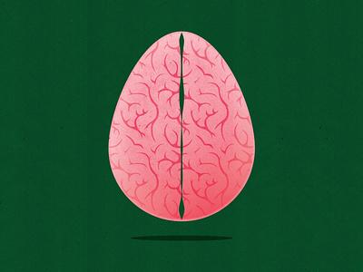 Happy Easter! mental health pattern easter eggs ideas ideation innovate innovation texture conceptual editorial illustration illustrator editorial textured illustration brainstorm rethink neurology easter egg easter brain