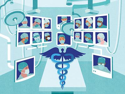 E-Health vector textured medicine illustrator editorial conceptual editorial illustration illustration health app healthcare surgery technology health