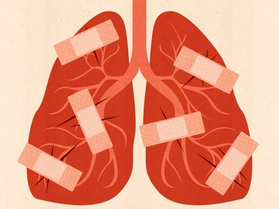Premium Stock: Medical, Health anatomy healthcare health illustrator editorial illustration medicine editorial textured conceptual illustration patch lungs