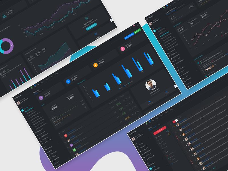 Oculux Admin Template Dark Version project management crm template angular bootstrap html clean admin panel admin dashboard admin