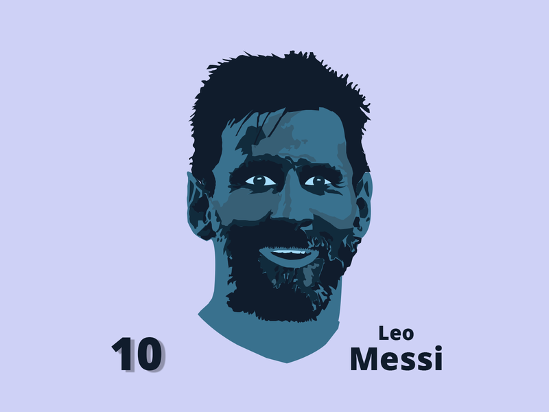 Lionel Messi Face Vector blue head lionel messi face graphic vector design