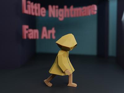 Little Nightmare Fan Art blender3d illustration design low poly b3d 3d