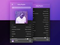 Daily Playlist UI