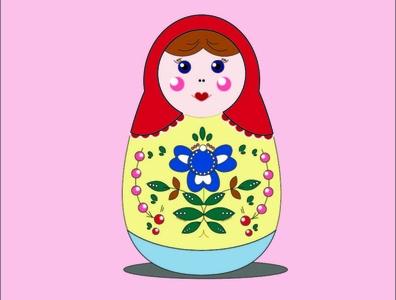 Russian doll retro russian doll typography vector design illustration