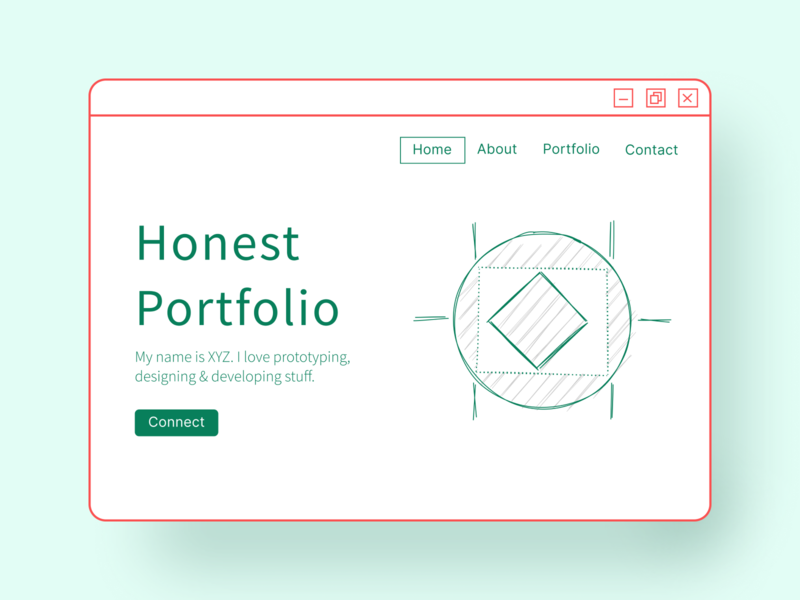 Portfolio Web branding website vector web ux ui minimal illustration flat design