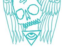 Skull Swan Sketch 2