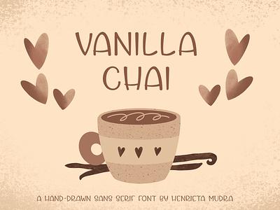 Vanilla chai display font sans serif font display font font design branding