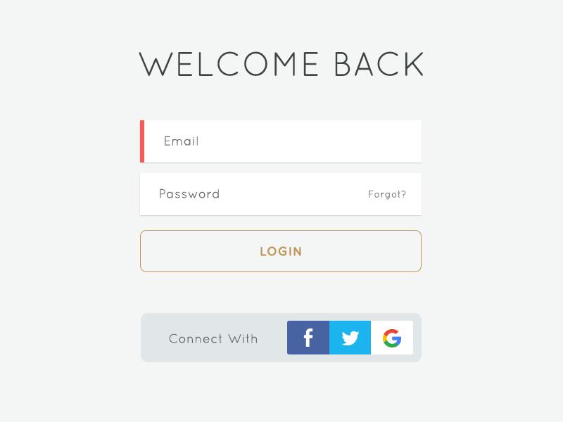 Login Form railsrumble inputs ux ui ui design form signup sign in login