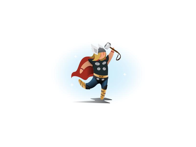 Thor!! weekly challenge illustration comics god hammer avengers marvel thor