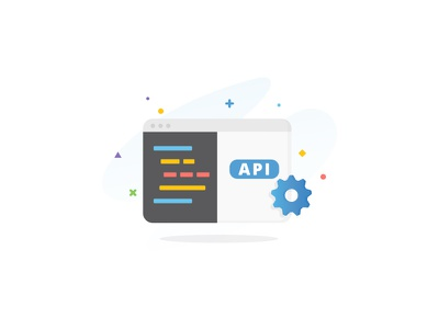 Median - API browser gear features ux startup code api illustration