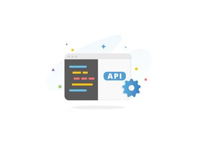 Median - API browser gear features ux startup code api illustration