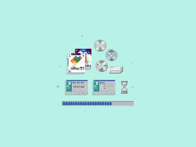 Zapier Pixel Art zapier computers web apps illustration pixel 8bit pixel art