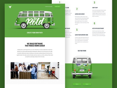 Volano - Big Omaha Promo singlepage ui bold bus web design website