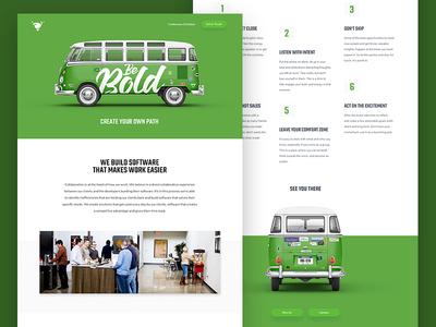 Volano - Big Omaha Promo singlepage ui bold bus web design website