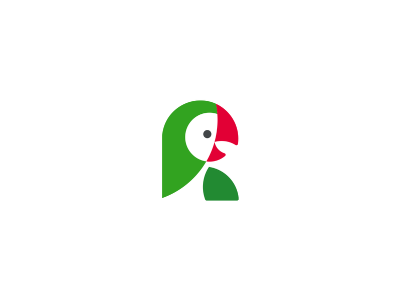 Parrot logograveyard bird parrot branding design logo icon illustration