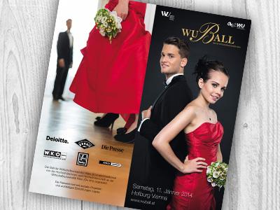 Ball Programme Folder flyer folder elegant ball contrast print