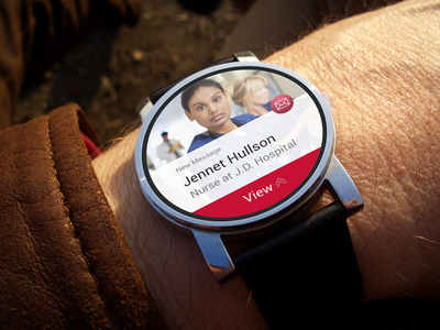 Message app for Android wear wear watch concepr android clean app messages chat interface ui