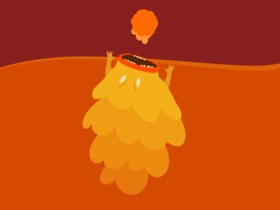 Lava Monster fireball monster asset game