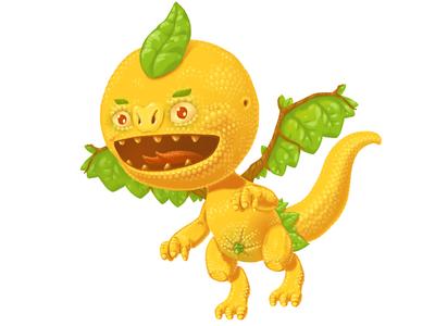 Orangon orange dragon character