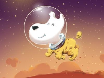 Mimpi dog on Mars game mars dog spasesuit