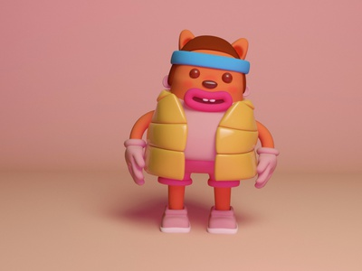 maki character design style illustration versionvadi kawaii cute maxon cinema 4d cinema4d character design