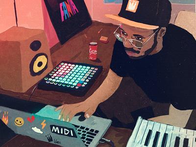 memories coverart music art chill lofi hiphop illustrator illustration art ableton producer music digital