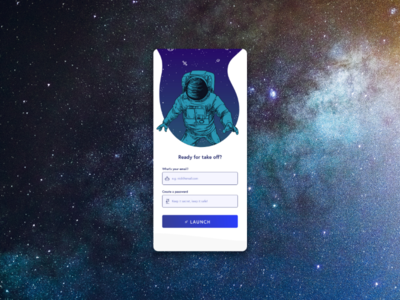 Space Sign Up Form CONCEPT