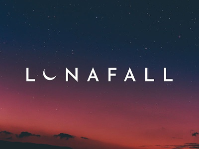 Lunafall Band Logo night sky moon band merch band logo music band vector logotype mark identity branding typography logo