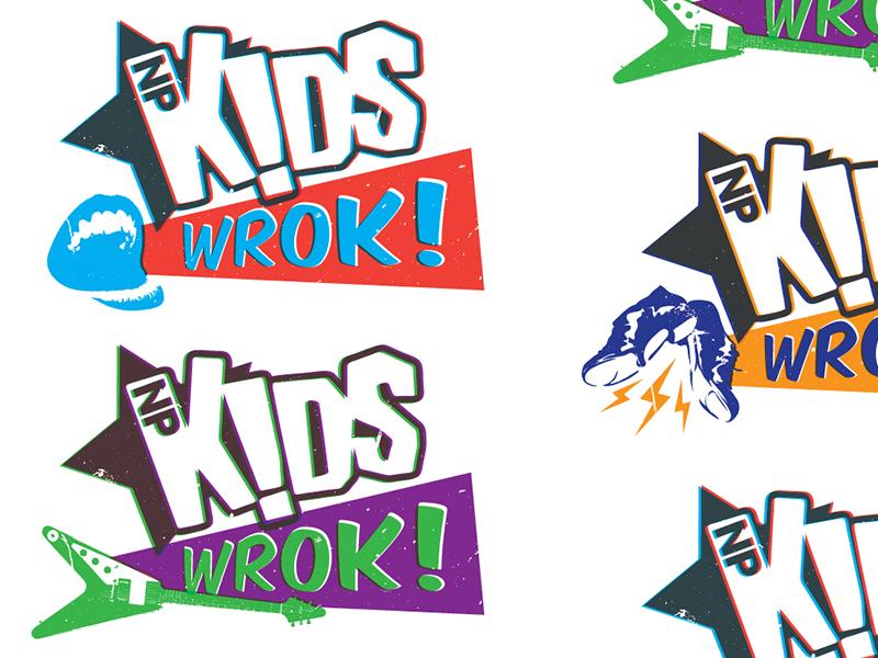 NPKids WROK dance guitar kids vibrant constructivism music roll rock