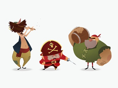 Character design for animation. Week 3 pirates lineup art cartoons illustration cgma characters