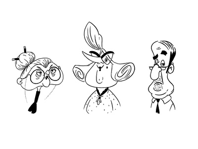 Character design for animation. Week 4 portraits lineup art cartoons illustration cgma characters