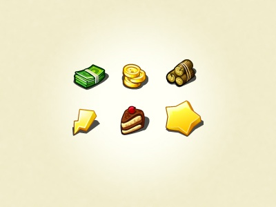 Icons For Game icon cake money star wood