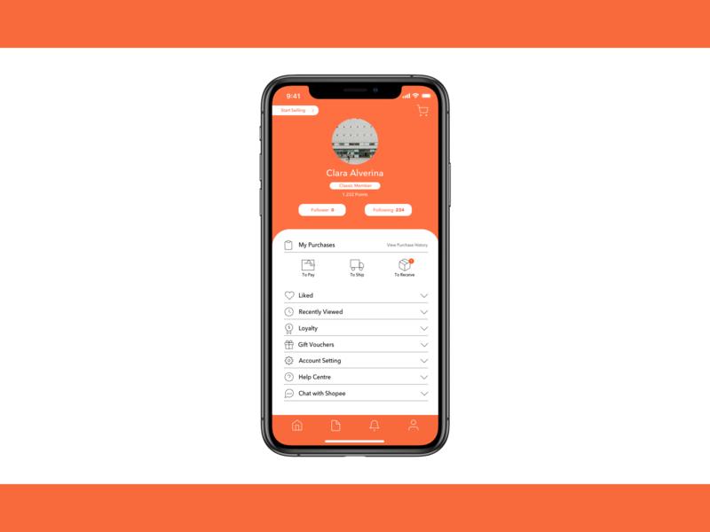 Shopee User Profile Redesign design profile ui design uxdesign shopee application userprofile user inter uiux ui