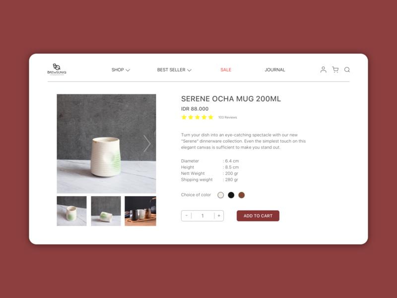 E-Commerce Shop - Brewsuniq Redesign design dailyui brewsuniq kitchenware design app sketch uidesign desktop application desktop interface ui design ux ui