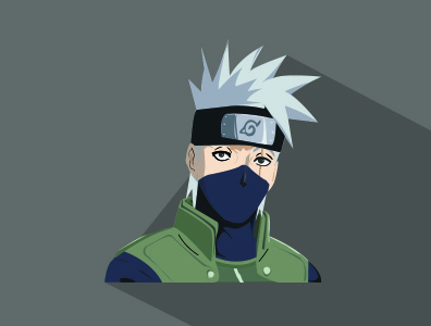 kakashi  the copy ninja vector illustration
